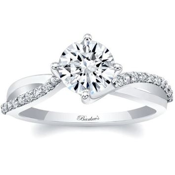 Barkev's Bypass Twist Prong Set Diamond Engagement Ring