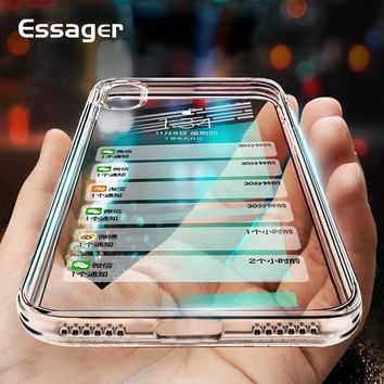 Essager Silicone Phone Case For iPhone XS Max XR X 10 8 7 6 6S S Plus 5 5S SE Clear TPU Cover Case For iPhone 8Plus 7Plus Coque