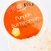 Pumpkin Buttercream Whipped Body Soap Fluff 8oz