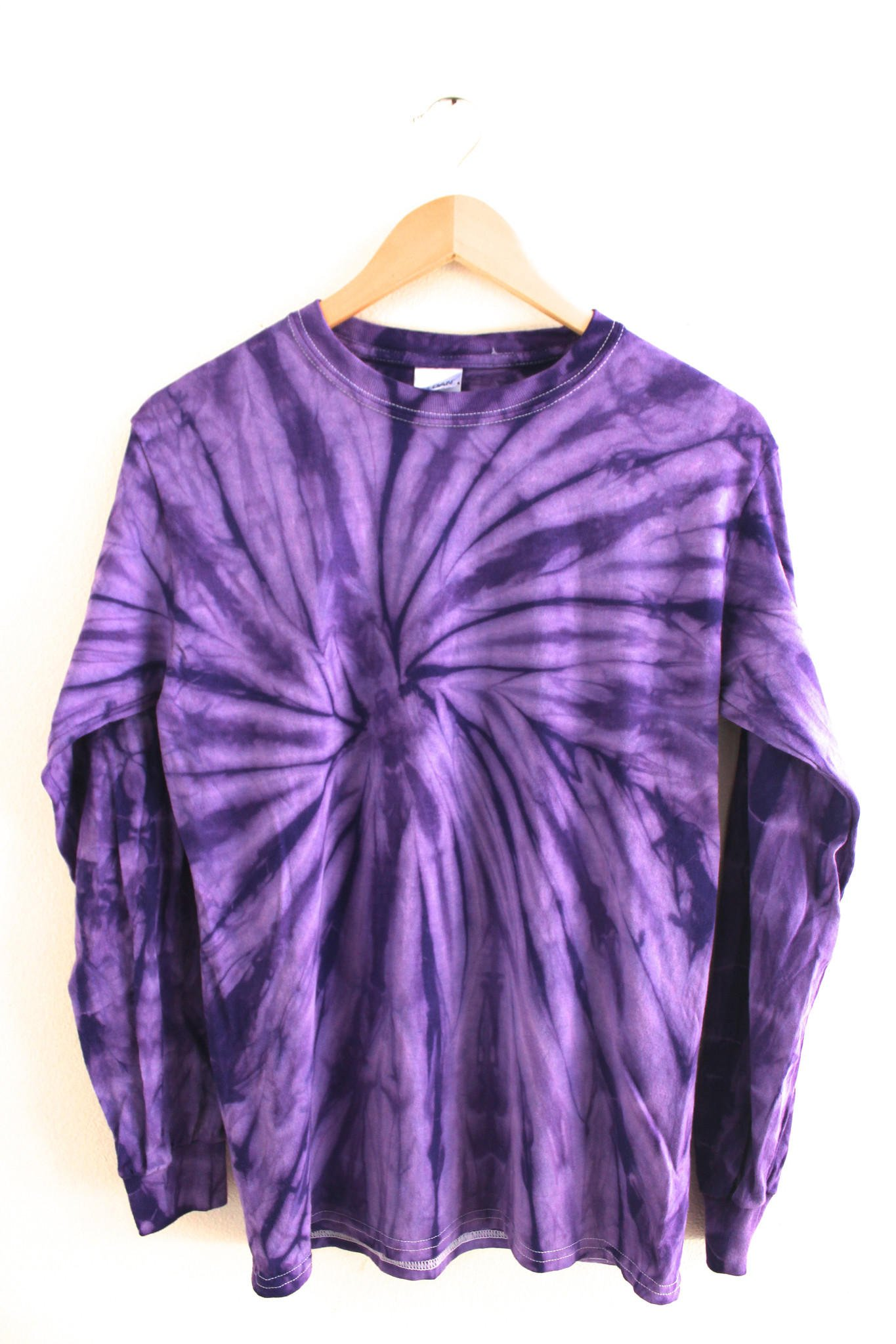 violet tie dye long sleeve tee from era of artists epic. Black Bedroom Furniture Sets. Home Design Ideas