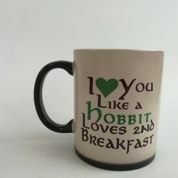 hobbit mugs the lord of the rings mug heat reveal mugs heat changing color magic tea  coffee mug transforming magic