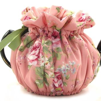 English Rose Pink 4 Cup Teapot Tea Cozy