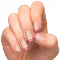 Incoco Nail Polish Strips, French Manicure, Flirt Scallop Tips