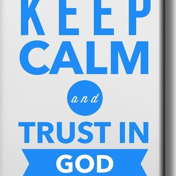 Keep Calm and Trust in God Picture on Stretched Canvas, Wall Art Décor, Ready to Hang