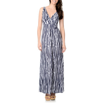 Chelsea & Theodore Women's Branch-print Empire Maxi Dress