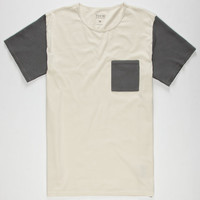 Tavik Morton Mens Pocket Tee Birch  In Sizes