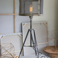 Wire Mesh Table Lamp