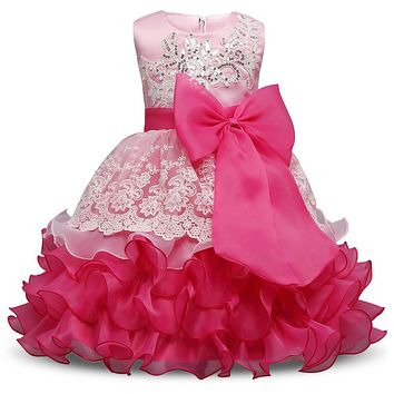 Formal Wedding Ball Gown Toddler Girl Tutu dress for girls clothes kids dresses Summer 2017 princess party girls dress Clothing
