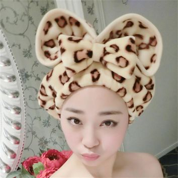 Fashion Flannel Magic Quick Dry Hair Hat Super Absorbent Headband Makeup Cosmetics Cap Turban Shower Cap Bath Wrapped Towel