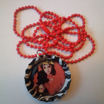 Lydia Deetz bottle cap necklace