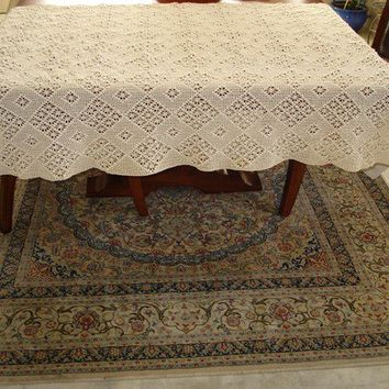 Ready to ship /Gorgeous Handmade Crochet tablecloth -Doily