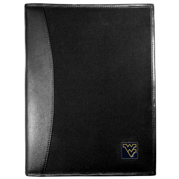 W. Virginia Mountaineers Leather and Canvas Padfolio CPAD60