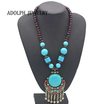 Bohemian Wooden Beaded Necklace