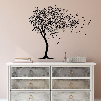 Vinyl Wall Decal Beautiful Tree Branches Leaves Nature Stickers (2780ig)