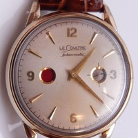 Le Coultre Futurematic Porthole 1950s Calibre 817 Auto 10k Gold Filled Watch