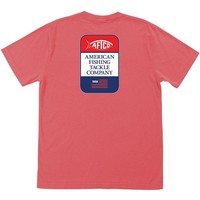 Big Blue Pocket Tee Shirt in Vintage Sunset Red by AFTCO