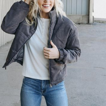 Byron Quilted Jacket (Charcoal)