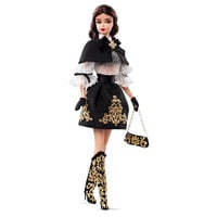 Barbie Fashion Model Collection Capelet and Gold Filigree Dress Barbie Doll