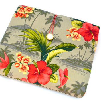 Hand Crafted Tablet Case from Floral Fabric/Case for:iPad,Kindle Fire HDX,Samsung Galaxy Tab, Google Nexus, iPad Air, Nook HD #nookhd