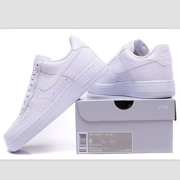 NIKE Women Men Running Sport Casual Shoes Sneakers Air force Low tops Ostrich White