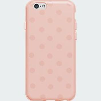 High Gloss Silicone Case for iPhone 6 - Pink Polka Dot