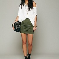 Free People  High Waist Scrunch Skirt  at Free People Clothing Boutique