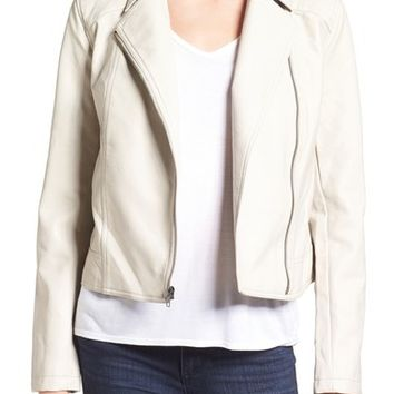 cupcakes and cashmere 'Joslyn' Faux Leather Moto Jacket | Nordstrom