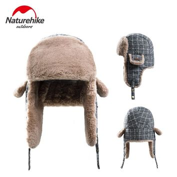 Naturehike Outdoor Camping Cap Warm Bomber Pilot Aviator Trapper Skiing Hat Winter Mask Headgear with Face Ear Protection