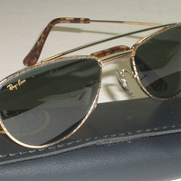 VINTAGE B&L RAY BAN W1758 ARISTAGP HANDCRAFTED DESIGN G15 UV AVIATOR SUNGLASSES