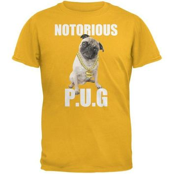 DCCKJY1 Notorious PUG Gold Adult T-Shirt