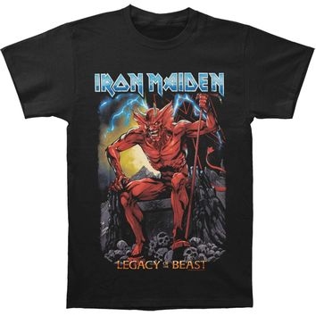 Iron Maiden Men's  LOTB Devil T-shirt Black