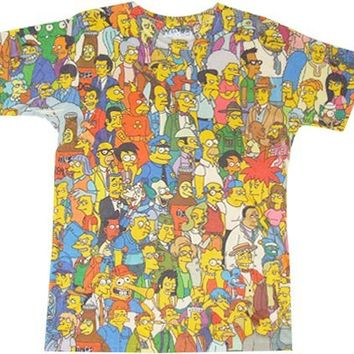 Springfield Crowd Photosheer Beige T-Shirt