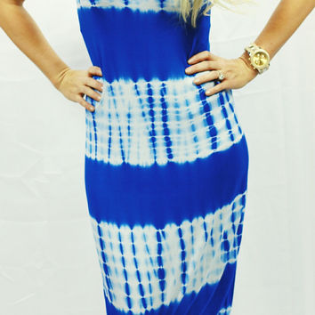 ECLECTIC ENERGY DRESS IN BLUE