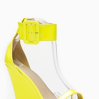 Liliana Yellow Single Sole Ankle Strap Wedge @ Cicihot Wedges Shoes Store:Wedge Shoes,Wedge Boots,Wedge Heels,Wedge Sandals,Dress Shoes,Summer Shoes,Spring Shoes,Prom Shoes,Women's Wedge Shoes,Wedge Platforms Shoes,floral wedges