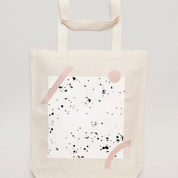 GEOMETRY - Screen printed canvas fair trade eco-tote bag