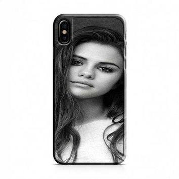 Selena Gomez Black and White iPhone X Case