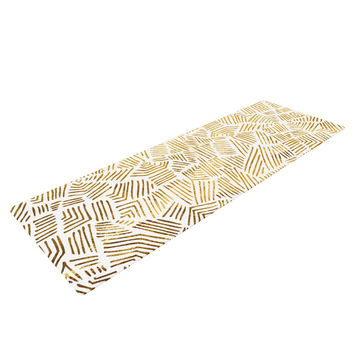 "Pom Graphic Design ""Inca Gold Trail"" Yellow Brown Yoga Mat"