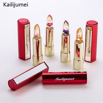 brand kailijumei beauty batom mate matt matte covered lipstick with a flower set,tint lip stick lips makeup cosmetics maquiagem