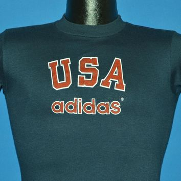 80s Adidas USA t-shirt Youth Large