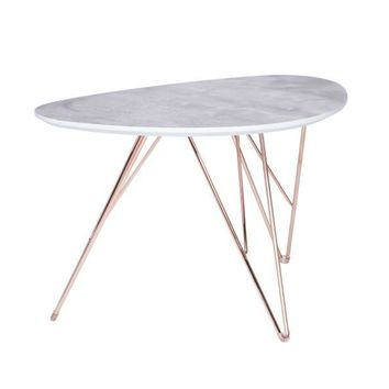 """Edgecliffe Coffee Table 36"""" MARBLE/GOLD"""