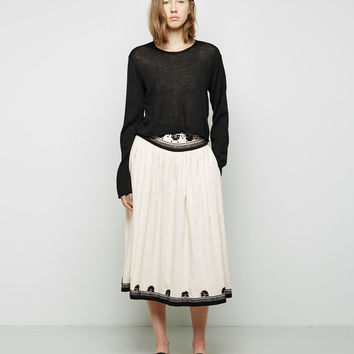 Embroidered Skirt by Suno
