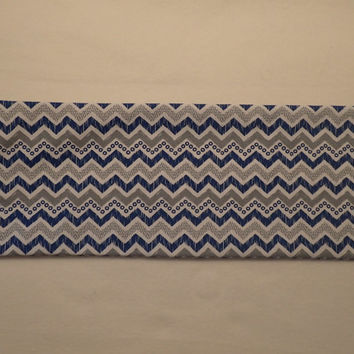 Neck Heating Pad Shoulder Cold Pack Lower Back Medium Sized Rice Bag Blue Gray and White Chevron Modern Colors