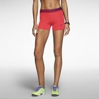 "Nike Pro Core 3"" Compression Women's Shorts - Laser Crimson"