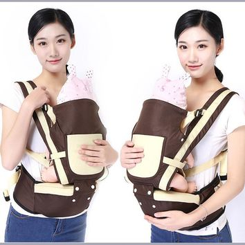 Adjustable Newborn Carrier Backpack Wrap Sling Harness Baby Strap Bag Convenient High Quality PP Cotton Pink Red Khaki