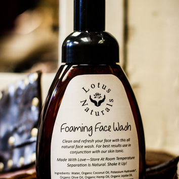 Natural Essential Oil Foaming Face Wash by Lotus Naturals