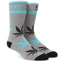 DGK Stay Smokin' Crew Socks - Mens Socks - Heather/Black/Mint - One