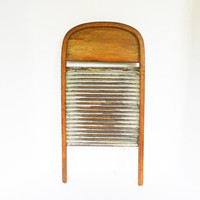 Rare Bentwood Washboard, Antique Oak Curved Top Wash Board, Rustic Wall Décor, Laundry Room Décor, Vintage Washing Tool