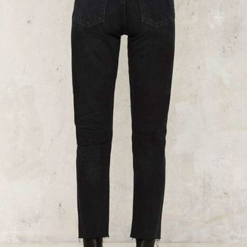 Citizens of Humanity Liya Hi-Lo Hem Jeans - Black