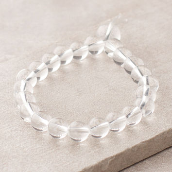 High-Energy Clear Quartz Wrist Mala