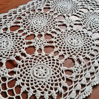 Vintage lace doily (1990s), crochet, Handmade, Vintage, Housewares, Table, crochet lace, Women lace, Vintage clothing, Vintage lace